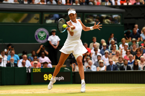 Muguruza is looking to add the Venus Rosewater Dish to go with her French Open crown (Photo by Shaun Botterill / Getty)
