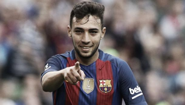 Munir celebrando un gol al Leicester // Fuente: mundodeportivo