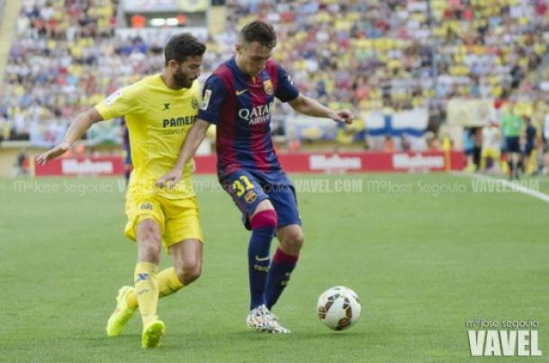 Munir jugando en el Barcelona. / Foto: Mª José Segovia (VAVEL)