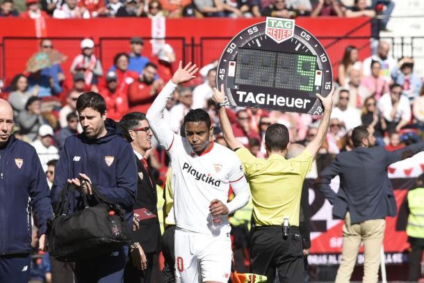 Luis Muriel se marcha lesionado | Foto: SFC