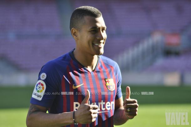 Jeison Murillo en su presentación con el Barcelona | Foto: VAVEL