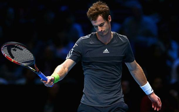 Djokovic's nearest rival Murray endured a torrid return to the ATP main tour. In action at the World Tour Finals(Source: ATP)