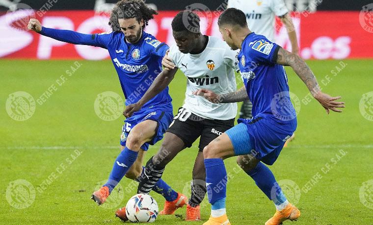 Musah, nueva sensación che, en el partido ante el Getafe. Fuente: Getafe