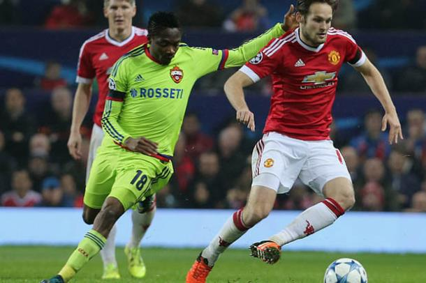 Musa in action against Manchester United in last season's Champions League competiton | Photo: Getty