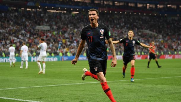 Mario Mandžukić was the hero for Croatia today | Source: Getty Images via FIFA.com