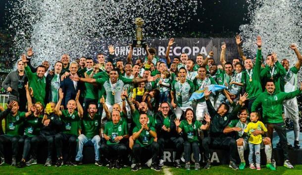 Atlético Nacional es el único equipo colombiano en ganar la Recopa Sudamericana. | Foto: AFP