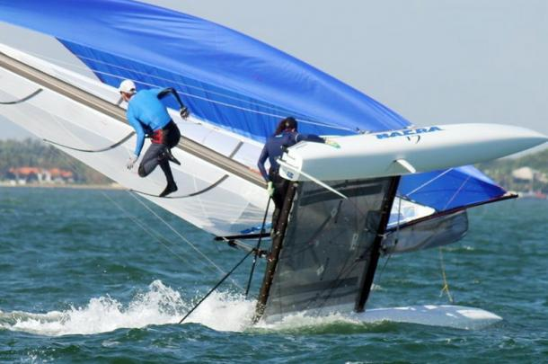 It's not always easy to keep control of the boat (photo : Getty Images)