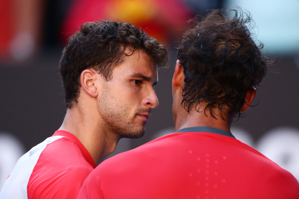 Nadal and Dimitrov's only Slam meeting was at the Australian Open in 2014 (Photo by Matt King / Getty Images)
