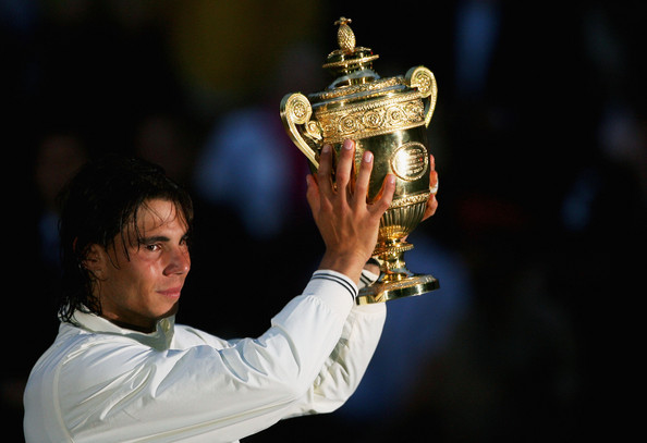 Nadal's first Wimbledon title in 2008 was the first time he managed to win two Slams in a Calendar year (Source : Pool / Getty)