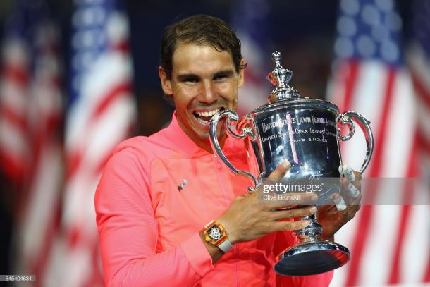 Nadal winning the 2017 US Open two years ago (Clive Brunskill/Getty Images)