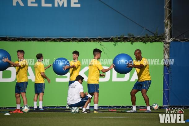 Naldo entrena para mantenerse como titular con Gallego | Foto: VAVEL