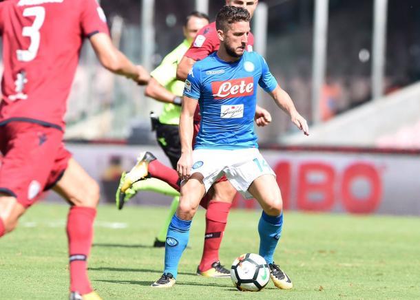 Dries Mertens in azione - Foto Ssc Napoli Twitter