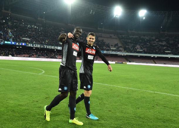 La felicità di Jorginho e Koulibaly, tra i migliori ieri sera - Foto Ssc Napoli
