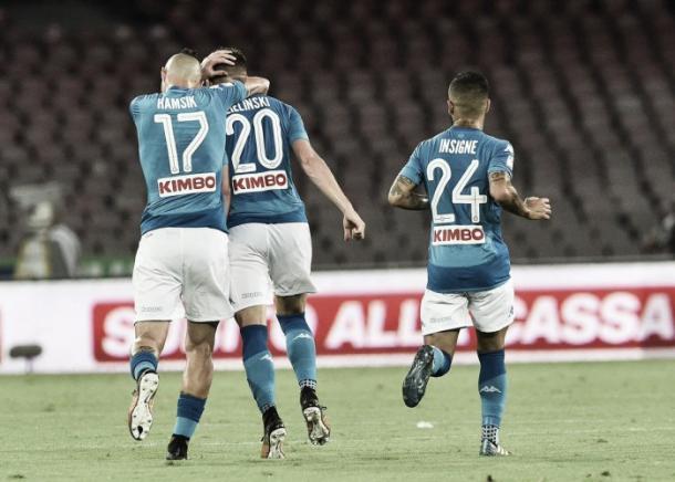 El Napoli venció a la Roma en su último encuentro.   Foto: SSC Napoli.