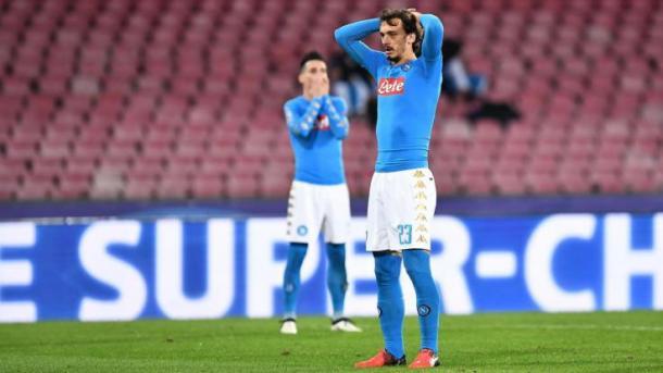La delusione di Gabbiadini dopo lo 0-0 con la Dinamo. Fonte foto: gazzetta.it