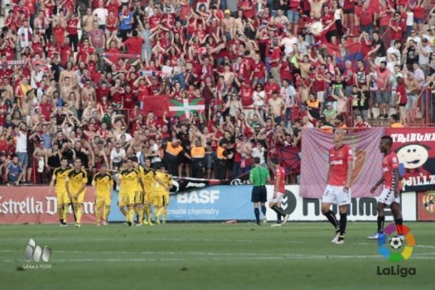 Osasuna fue superior en la promoción y el Nàstic se quedó sin ascenso   Foto: LaLiga.