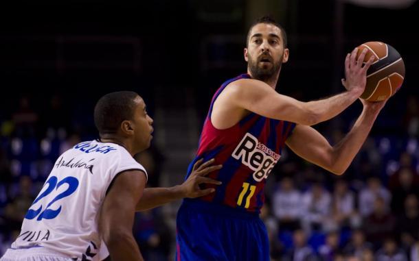 Navarro en un partido de la ACB con el FC Barcelona Regal/Vía: fcbarcelona.es