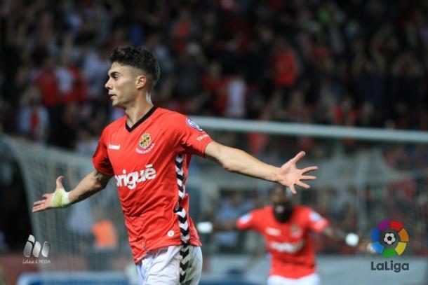 Un gol de Naranjo le volvió a dar la victoria al Nàstic   Foto: LaLiga.