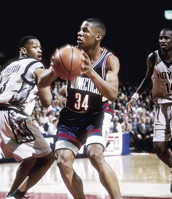 Allen y Iverson en el campeonato universitario | Getty Images