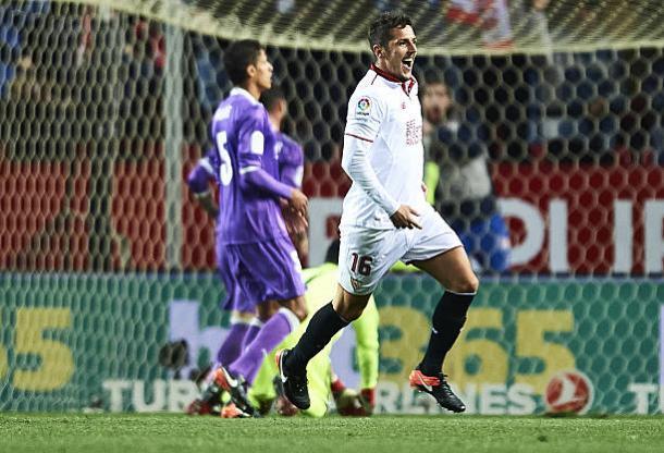 Jovetic fez o gol que encerrou e invencibilidade | Foto: Aitor Alcalde Colomer/Getty Images