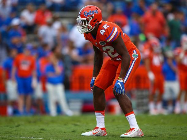 Keanu Neal in action for the Florida Gators last season. (Source: Rob Foldy/Getty Images)
