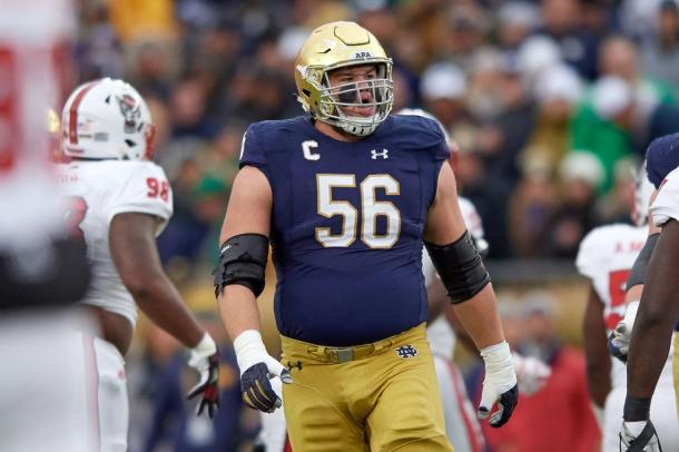 Quenton Nelson is a rare guard prospect who will test team's resolve around taking an interior lineman top 10 | Robin Alam, Icon Sportswire via Getty Images