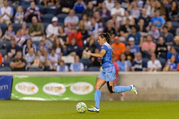 Vanessa DiBernardo has become vice-captain since being drafted in 2014. Source: Chicago Red Stars