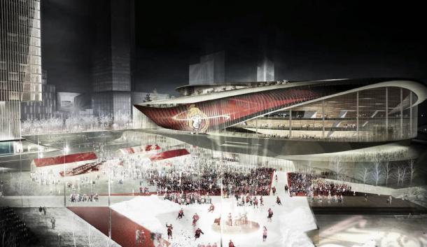 Recreación del posible nuevo pabellón de los Senators | Fuente: Calgaryherald.com