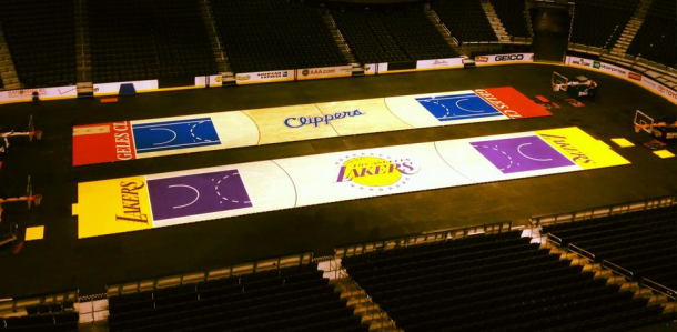Lakers y Clippers compartían cancha, el Staples Center | Foto: LATF USA