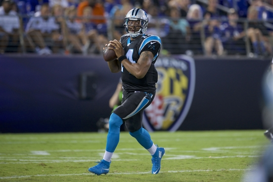 Cam Newton played only one series in the Carolina Panthers first preseason game of the season. | Photo: USA Today Sports