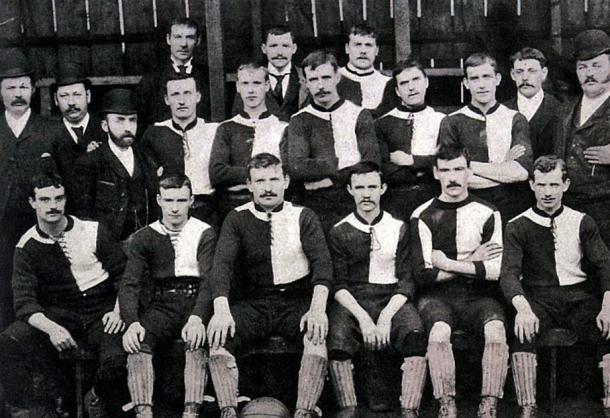 Plantilla del New Heath en la temporada 1892-93. Fuente: Wikipedia.