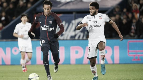 Neymar en la Ligue 1. Foto: PSG.