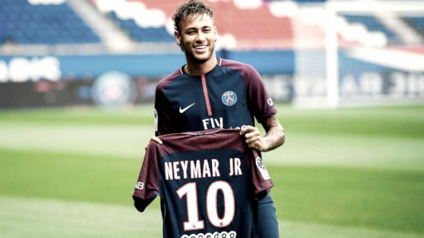 Neymar Jr en su presentación | Foto: PSG
