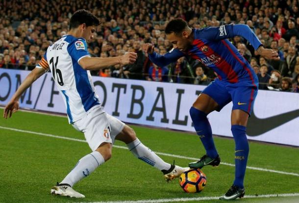 Neymar teve boa atuação, mas passou em branco outra vez (Foto: Reuters)