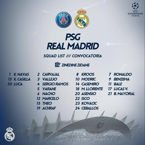 Zidane tem todo o elenco a disposição | Foto: Divulgação/Real Madrid CF