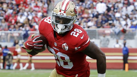 Carlos Hyde's fitness has the 49ers anxious for his return | Source: espn.com