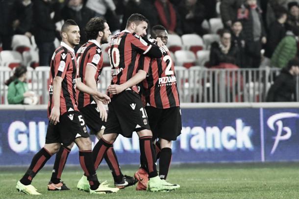 Il Nizza esulta dopo il gol di Le Bihan | Source: FoxSports
