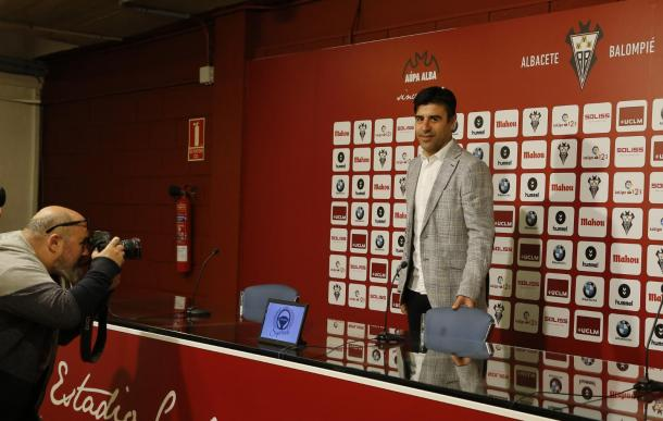 Nico Rodríguez en la sala de prensa del Belmonte | Foto: Albacete Balompié