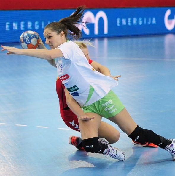 Nina Jericek, en un partido con la selección de Eslovenia. Foto: eurohandball.com