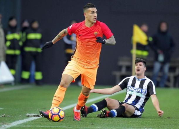 Leandro Paredes in azione, contro l'Udinese. Fonte: ITASportPress