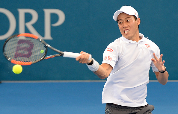 Kei Nishikori fought through a tough opening set. | Photo: Bradley Kanaris/Getty Images