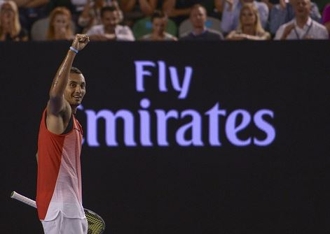 Kyrgios celebrates a winning point | Photo: Getty Images