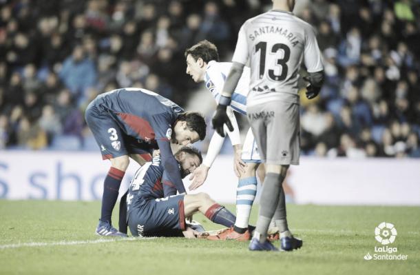 Jugadores de la SD Huesca ante la Real Sociedad | Foto: LaLiga