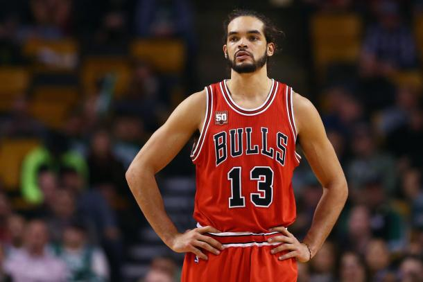 Joakim Noah was visibly frustrated with his role a Chicago Bull and is on his way out of the Windy City. Photo:Maddie Meyer/Getty Images North America