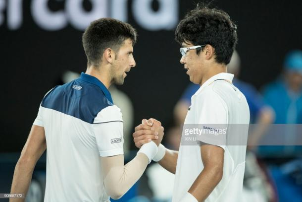 Djokovic felicita a Chung. Foto: Getty Images.