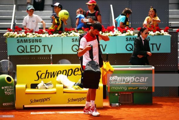 Djokovic se despidió antes de tiempo del Masters 1000 de Madrid. Foto: Getty Images.