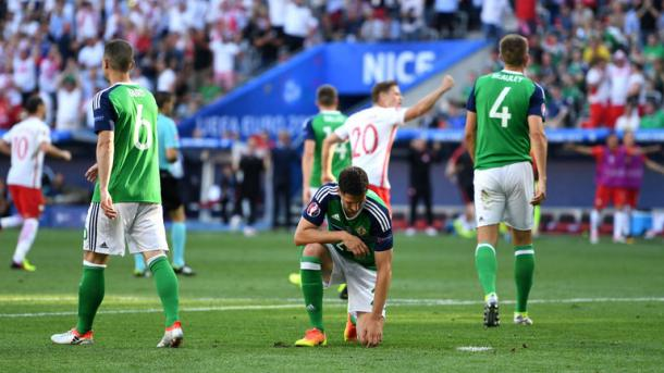 The Northern Ireland players will have to pick themselves up after defeat by Poland | Photo: Sky Sports