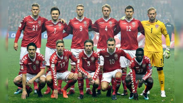 Equipo titular de Dinamarca | Foto: Líbero