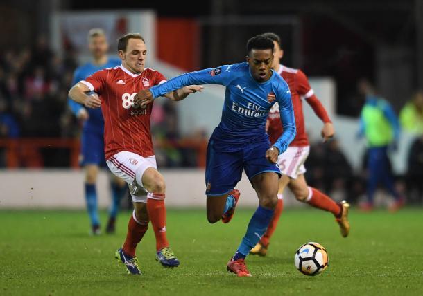 Imagen del partido entre el Nottingham Forest y el Arsenal | Fotografía: Arsenal