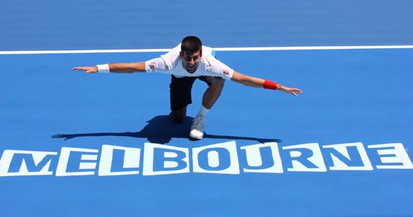Djokovic en Melbourne. Foto: australianopen.com